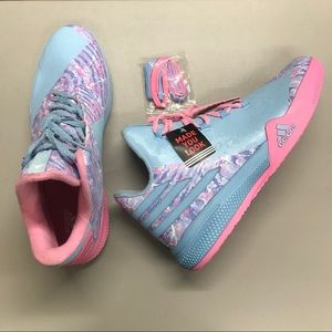 Adidas Bounce Blue Pink RARE Made You Look Shoe